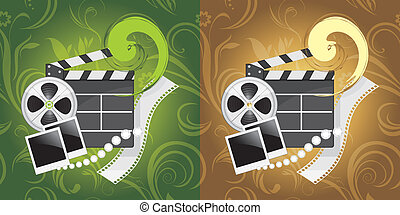 Film industry objects. Background