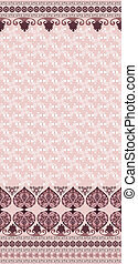 pattern with bells and a wide border