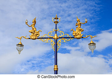 Street lamp - Street light against the backdrop of a sky...