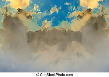 Fantasy clouds background
