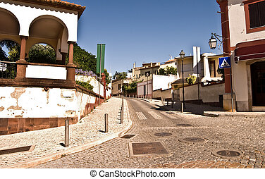 Old street in the ancient town of Silves, Portugal