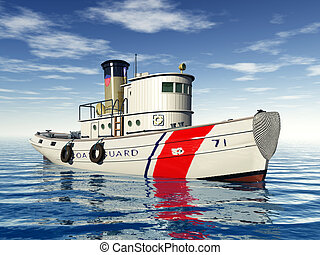 Tug Boat - Computer generated 3D illustration with a Tug...