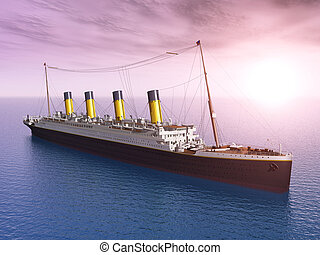 Ocean Liner - Computer generated 3D illustration with an...