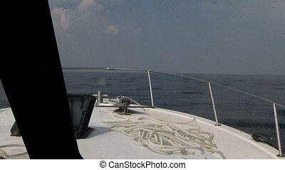 Boat travel offshore Alabama - Boat offshore Alabama...