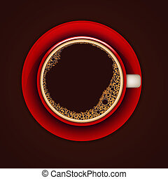 Red cup of coffee