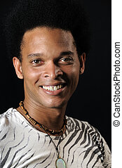 Happy african man - Portrait of young african american man...