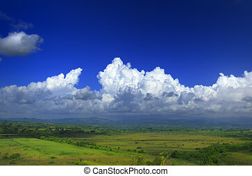 Rural landscape - A view of Sierra del Escambray landscape...
