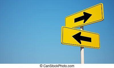 Two way Sign with Clipping Path