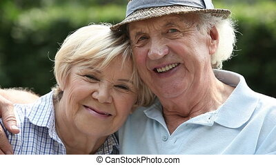 Love and retirement - Portrait of a charming senior couple...