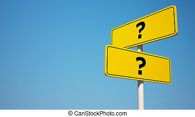 Question Signpost with Clipping Pat - Question and Answer...