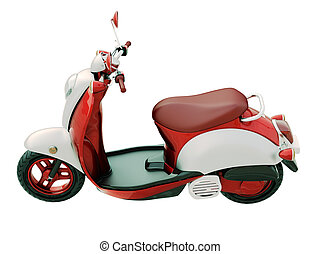 Classic scooter isolated - Modern classic scooter isolated...
