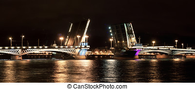 Annunciation bridge Lieutenant Schmidt Bridge at night St...