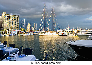 Naples port - A restaurant in the port of Naples, Italy