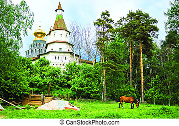 Russian monastery - View of the monastery New Jerusalem,...