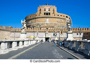 Sant Angelo - Ponte Sant\\\'Angelo bridge and Castel Sant...