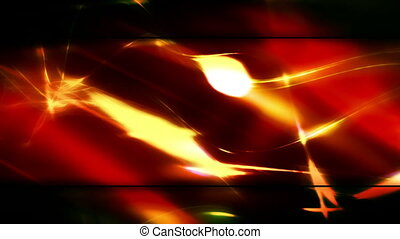 Red and Gold Abstract Loop