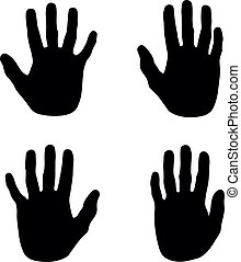abstract hands - a set of black abstract hand silhouettes