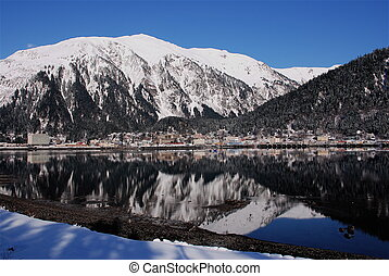 Juneau Alaska Reflection - Juneau Alaska on a beautiful...