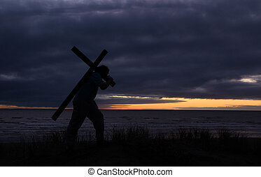 Carry Your Cross - This image is Based on Matthew 16:24-25...