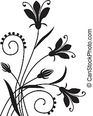 Flower background - Black flower congratulatory decorative...