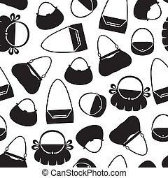 Handbag pattern seamless - Silhouette of handbag seamless...