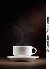coffee - wonderful cup of hot coffee with smoke