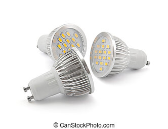 Led light bulbs with clipping path