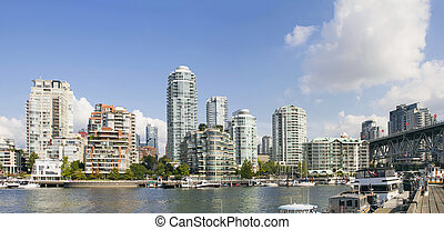 Waterfront Living by Granville Island Bridge Vancouver BC -...