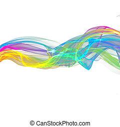 abstract ribbon waves - abstract colorful ribbon waves