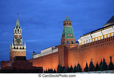Red Square of Moscow by night