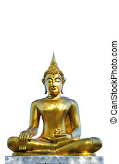 Buddha statue isolated clipping