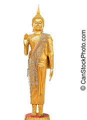 Clipping path Buddha statue isolate