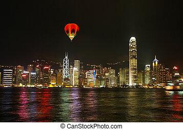 Hong Kong Skyline - The Hong Kong City Skyline at night