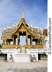 Golden Aphornphimok Pavilion inside Royal Grand Palace...