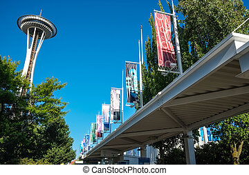 Seattle Center - The Space Needle at Seattle Center