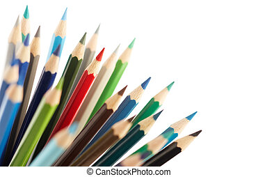 difference - red color pencil difference from the others