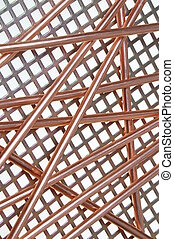 Copper wire on metal grid