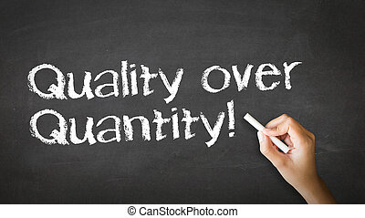 Quality over Quantity Chalk Illustration - A person drawing...