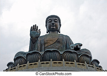 Buddha monument in Hong Kong China