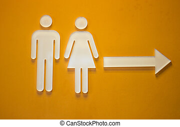 Signage of male and female