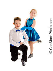 Tap Dance Partner Kids - A Young Boy and Girl Tap Dance...