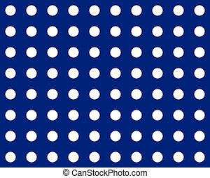 white dot on blue background