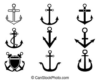 anchor icons set