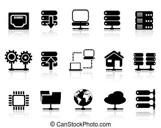 Server and database icon - isolated Server and database icon...