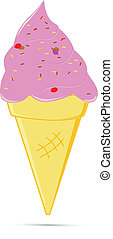 ice cream on a white background - floating ice cream on a...