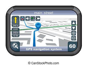 GPS navigator vector, gradient, EPS10