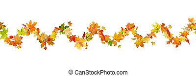 Autumn leaves pattern - Seamless pattern of autumn leaves,...