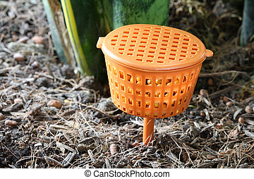 Slow-release Fertilizer Baskets - Close up photo of...