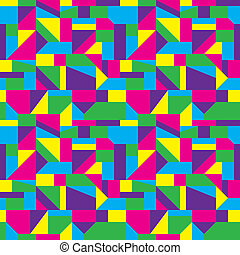 Abstract Art Pattern - Seamless colorful shapes background