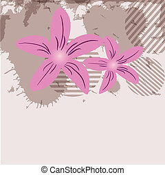 Delicate pattern with pastel colored flowers.